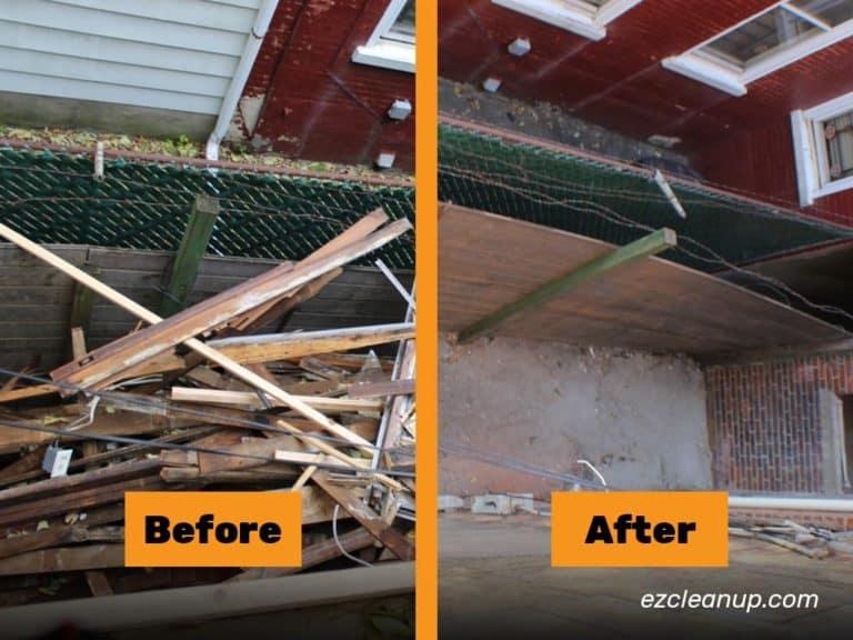 junk removal in Philadelphia Clearing boards